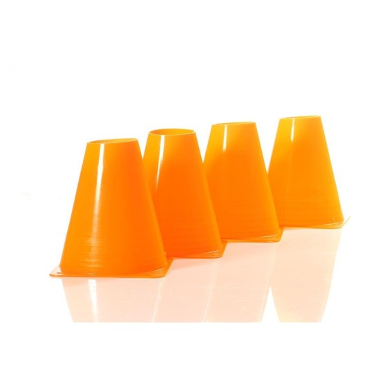 Obedience-Pylonen-Set, 4 Stück, 15 cm orange