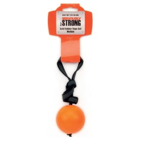 Vollgummiball am gummierten Band, orange L (ca. 9,5 cm...
