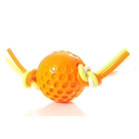 TPR-Ball am Silikonseil 7,5 cm orange