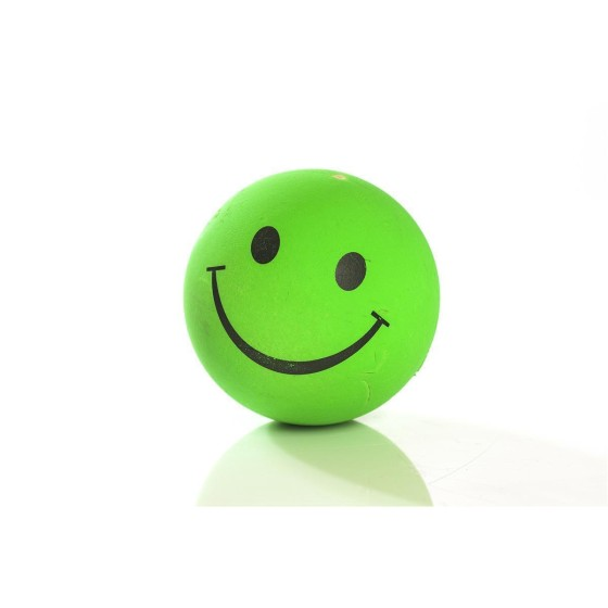Smilley-Moosgummiball, 72mm, neongrün