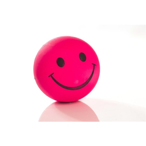 Smilley-Moosgummiball, 47mm, neonpink