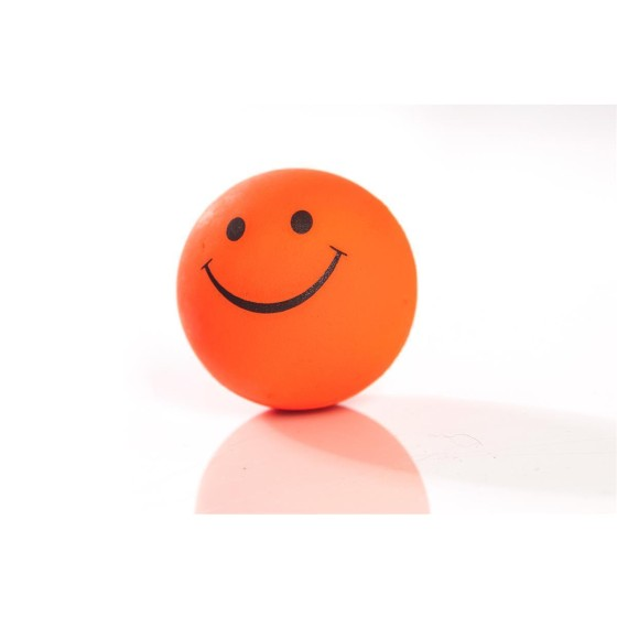 Smilley-Moosgummiball, 47mm, neonorange