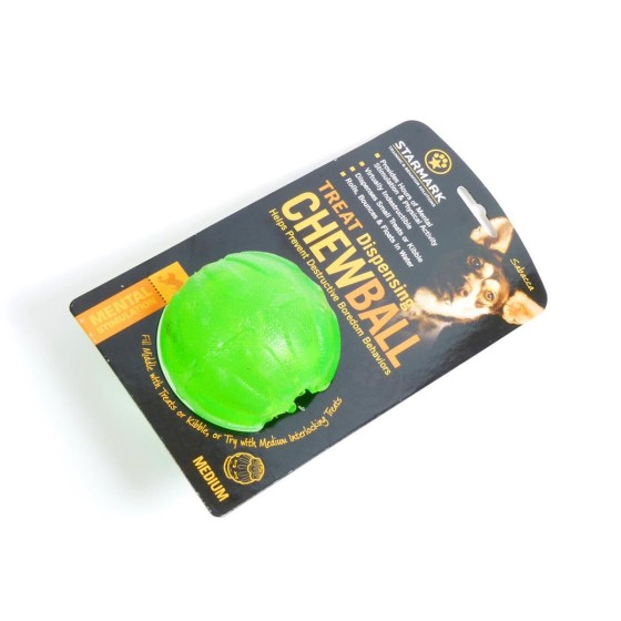 Treat Dispensing Chew-Ball, Starmark, Größe:  7 cm (M)